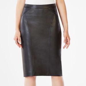 BCBGMAXAZRIA Natalie Faux leather Skirt XXS